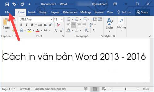 Cách in văn bản, in file trong Word 2016, 2013, 2010, 2007, 2003